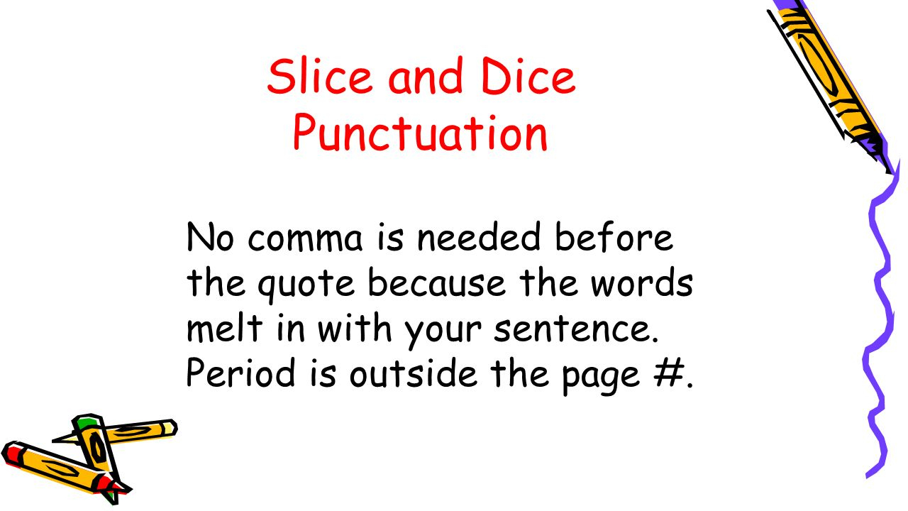 Quote Punctuation Integrating Quotations Into Your Writing Literary Analysis Ppt