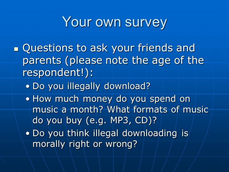 Help with essay on illegal music downloads please!?