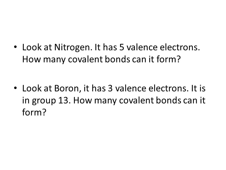 5.3 Covalent Bonds Key Concepts: What holds covalently bonded ...