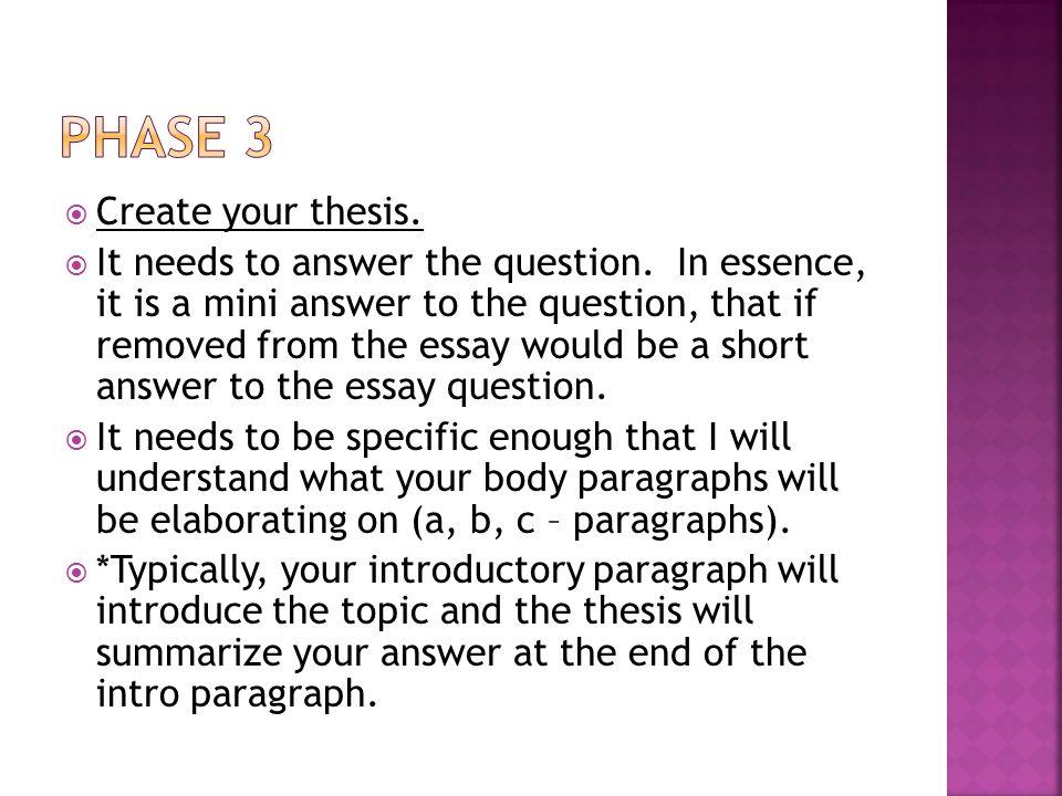 Essay Creator