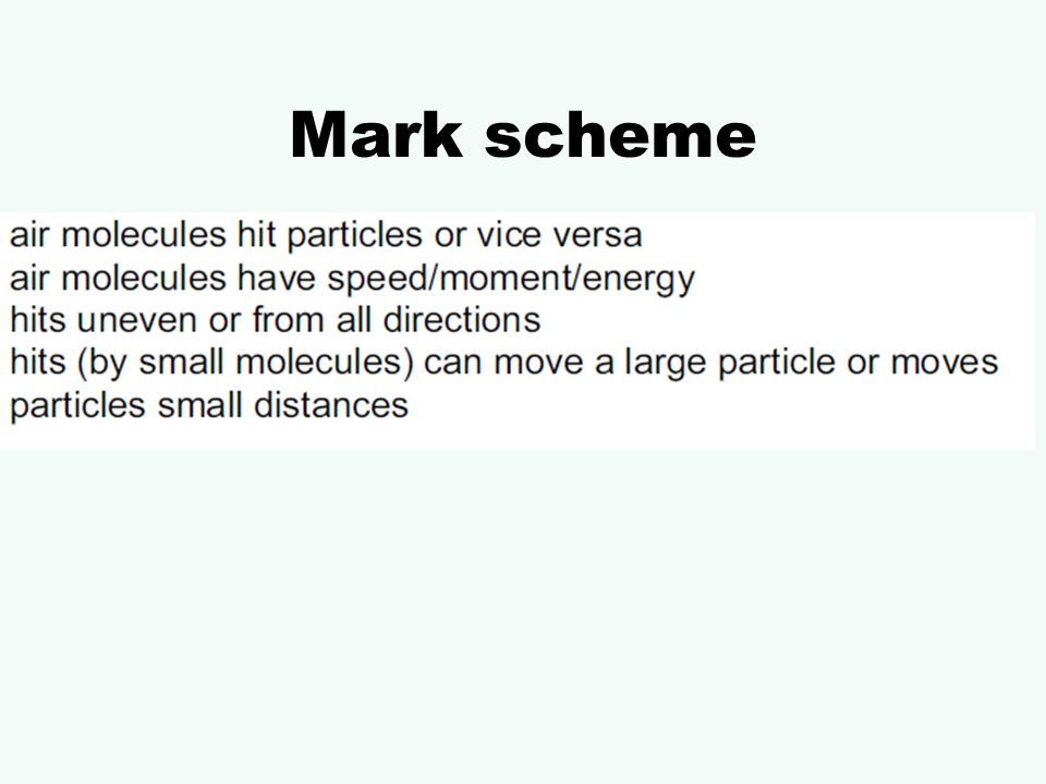 What is a marking scheme?