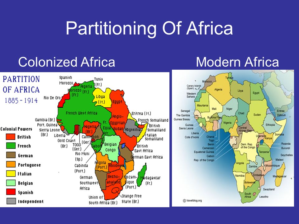 Partitioning Of Africa Colonized Africa Modern Africa