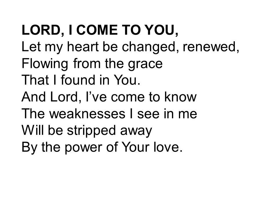 私はあなたに来るキリスト教の歌