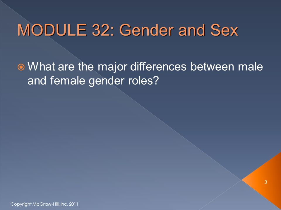  What are the major differences between male and female gender roles.