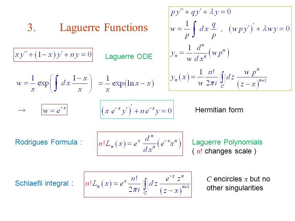 Rodrigues Formula :Laguerre Polynomials ( n! changes scale ) 3 ...