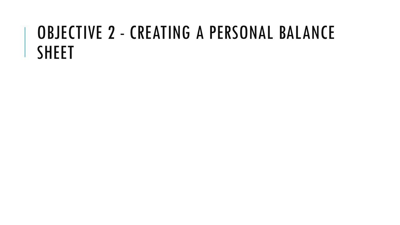 creating balance sheet