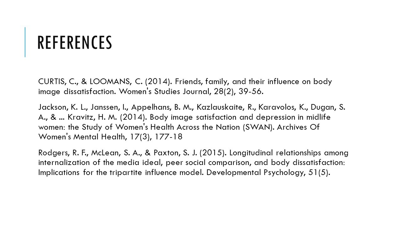 REFERENCES CURTIS, C., & LOOMANS, C. (2014).