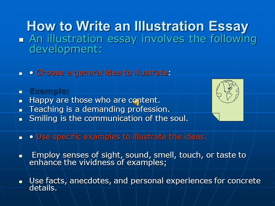 illustration essay essays Your essay site featuring all your term paper needs in one location search for research papers on thousands of topics, freshly written to reflect todays hot essay topics.