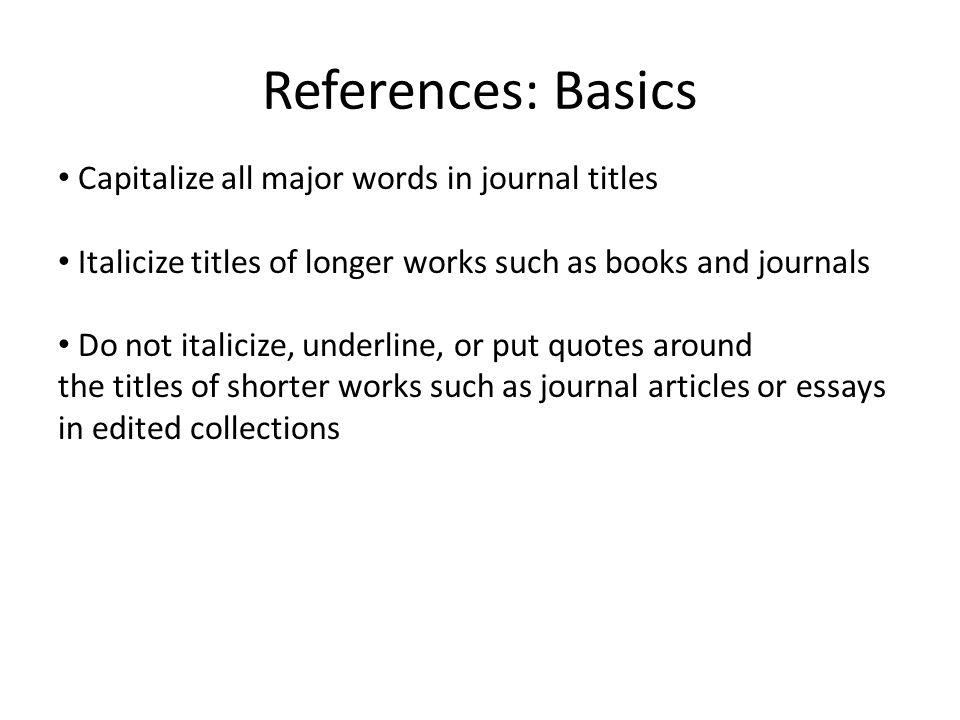 Apa citing journal