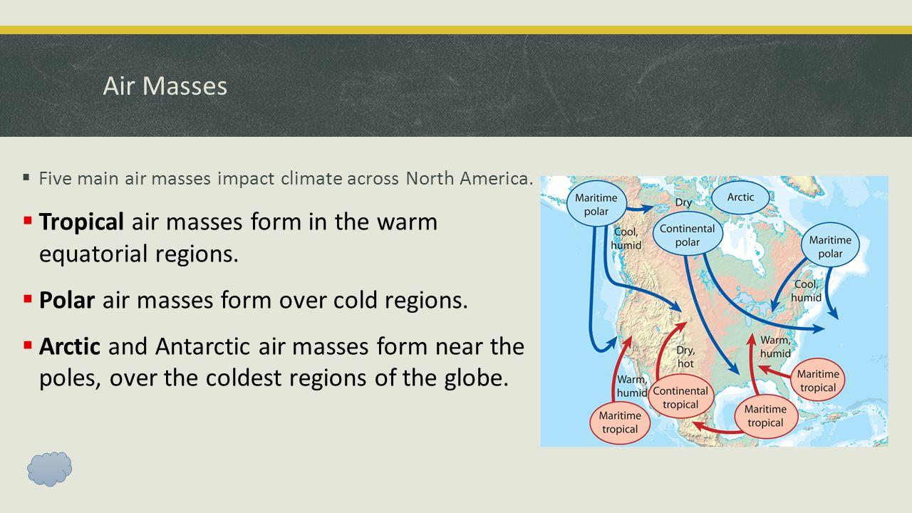 Air Masses & Weather Fronts Ms. Cervera Bellringer # 4 1. How do ...