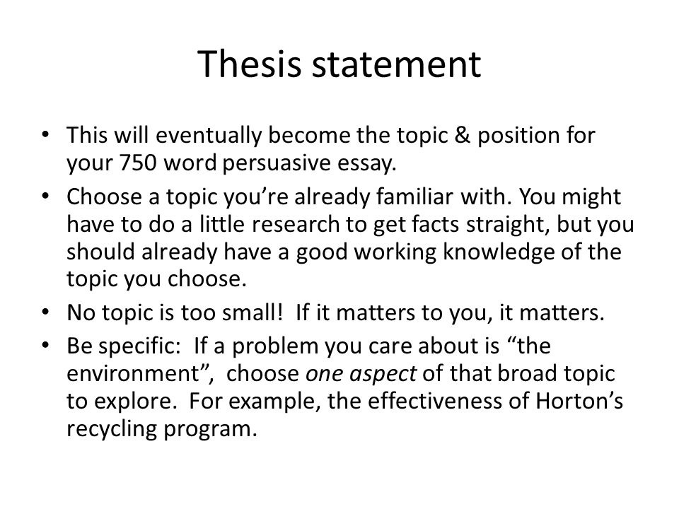Thesis Statement This Will Eventually Become The Topic Amp Position Thesis  Statement This Will Eventually Become