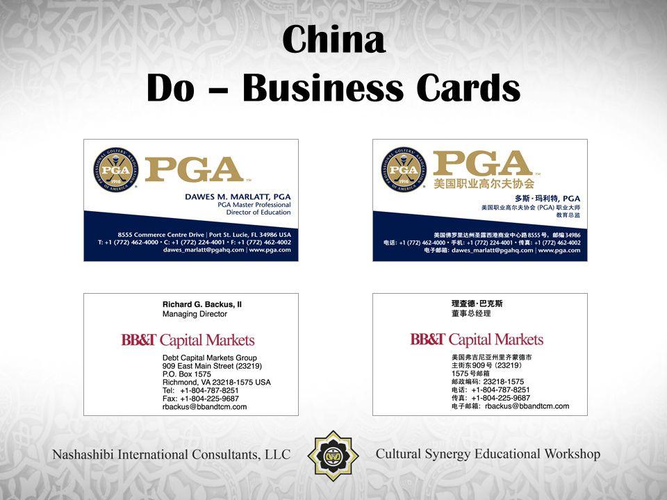 China Do – Business Cards