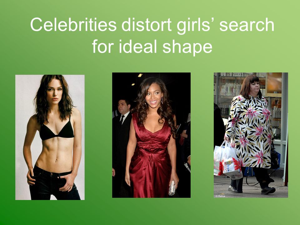 Celebrities distort girls' search for ideal shape