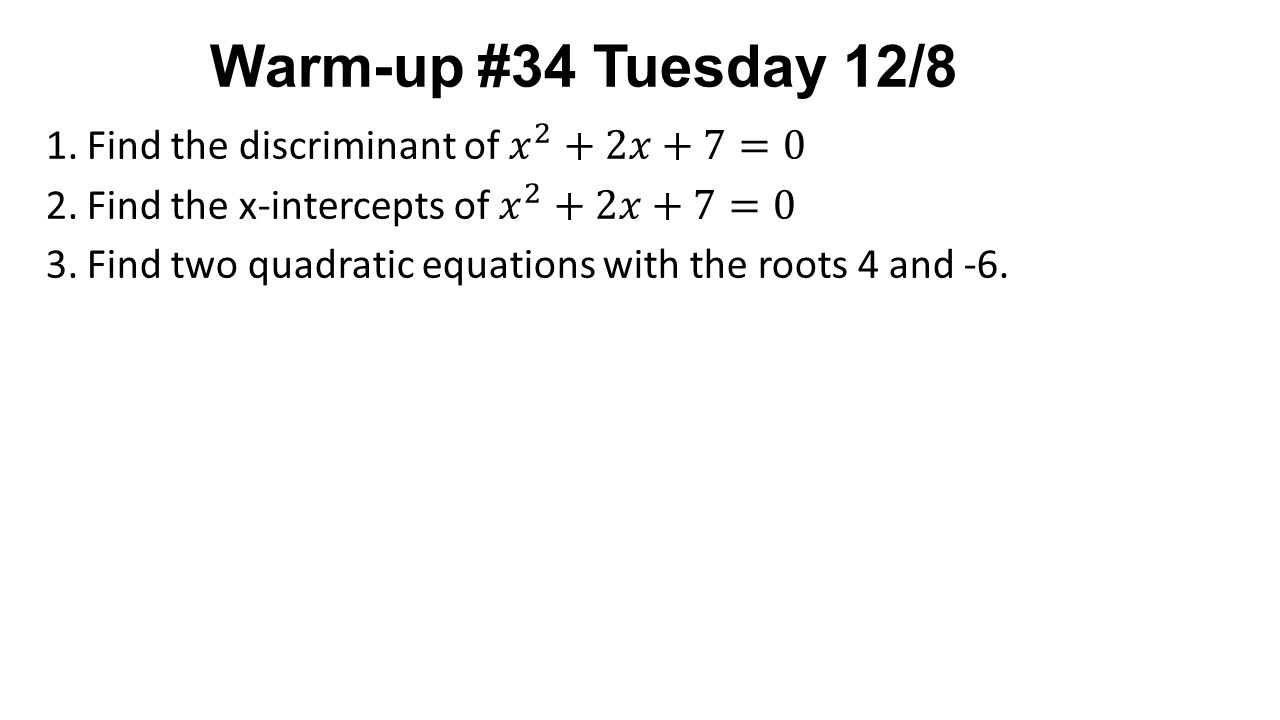 Warm up 34 tuesday 128 lesson 311 imaginary number and complex 1 warm up 34 tuesday 128 falaconquin