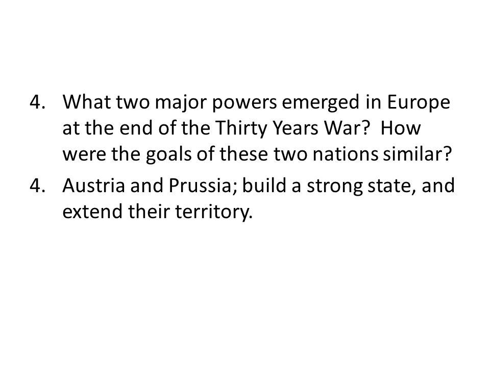 chapter part essays for test section how did philip ii what two major powers emerged in europe at the end of the thirty years