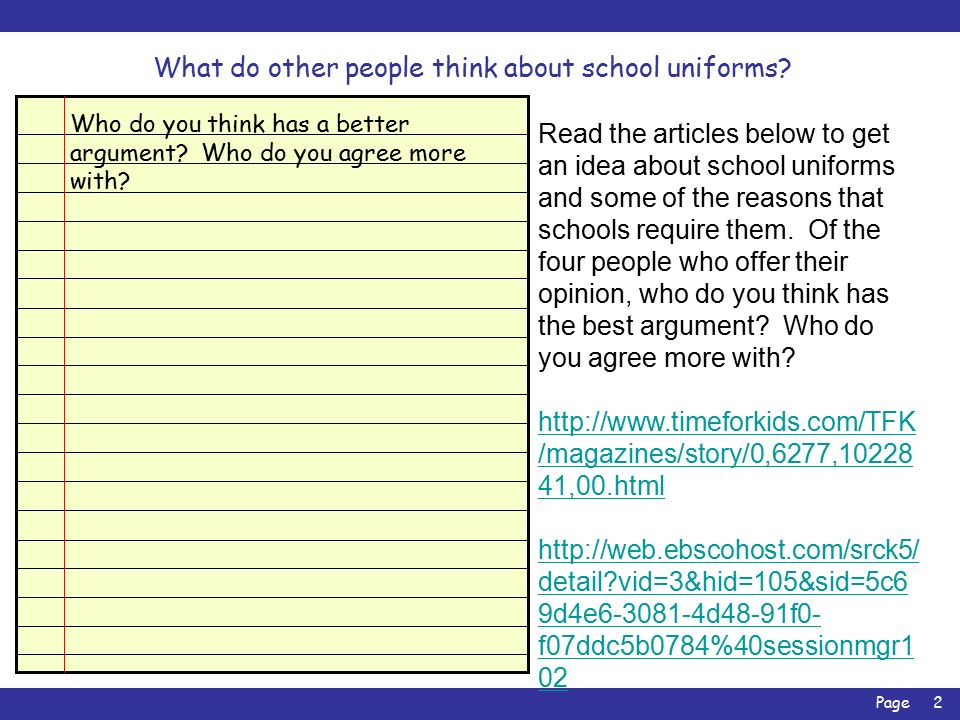 persuasive essay on pro school uniforms Persuasive essay on school uniforms pros and cons what is an argument the name of my school is don bosco secondary school persuasive essay on school.