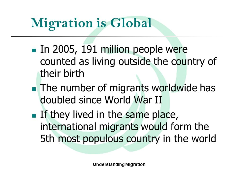 essay migration people Migration essay 2309 words | 10 pages migration migration is one of the most important issues facing international politics today and is becoming more prevalent an issue every year in 1980 the estimated number of refugees was 82m, 1990 - 15m, 1992 - 20m (castles and miller, 1993, p 84.