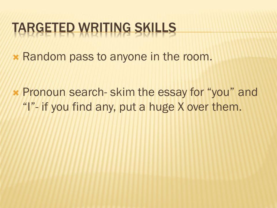 find x essay