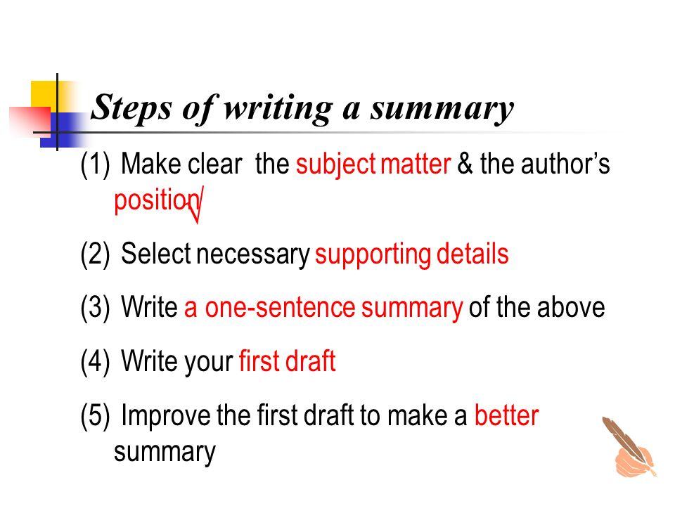 writting summary