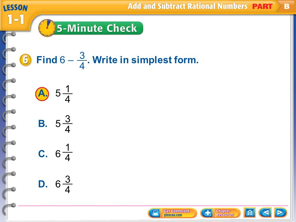 Lesson Menu Main Idea and New Vocabulary NGSSS Key Concept:Add and ...