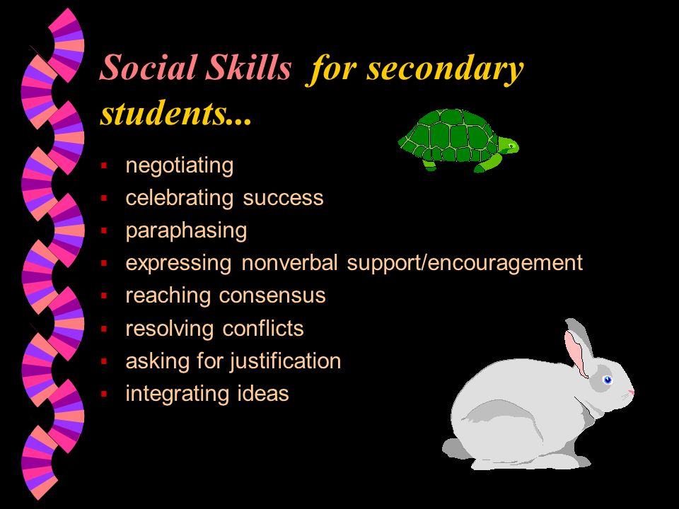 Social Skills for secondary students...