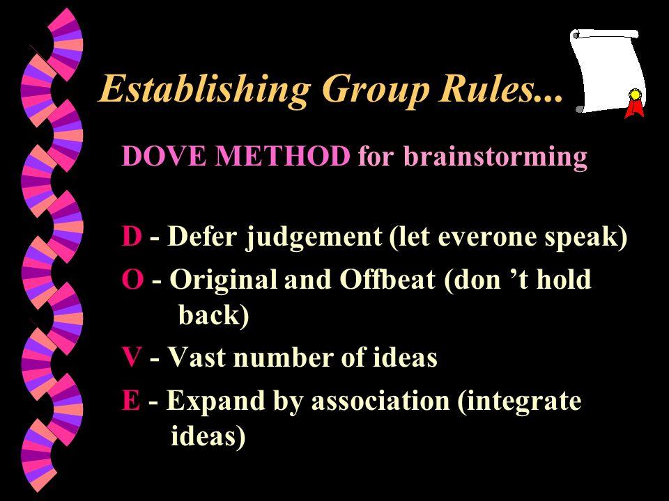Establishing Group Rules...