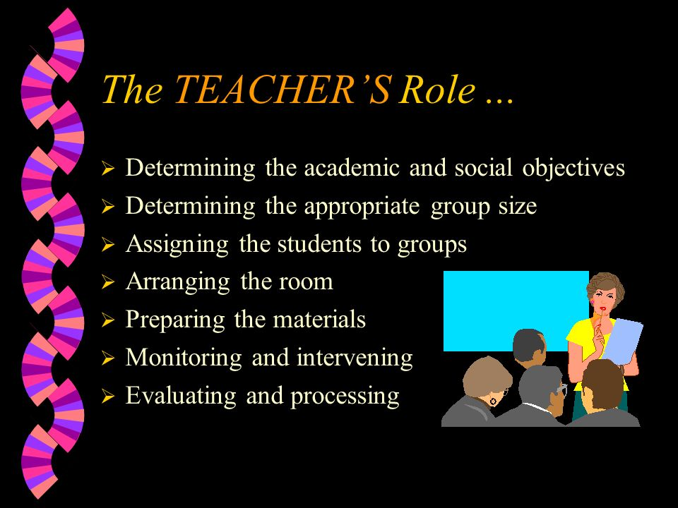 The TEACHER'S Role...