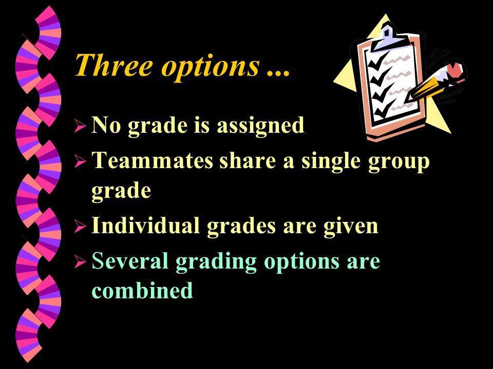 Three options...