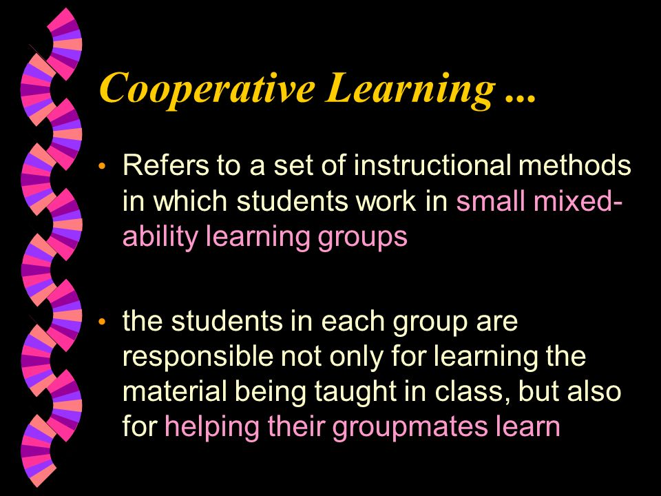Cooperative Learning...