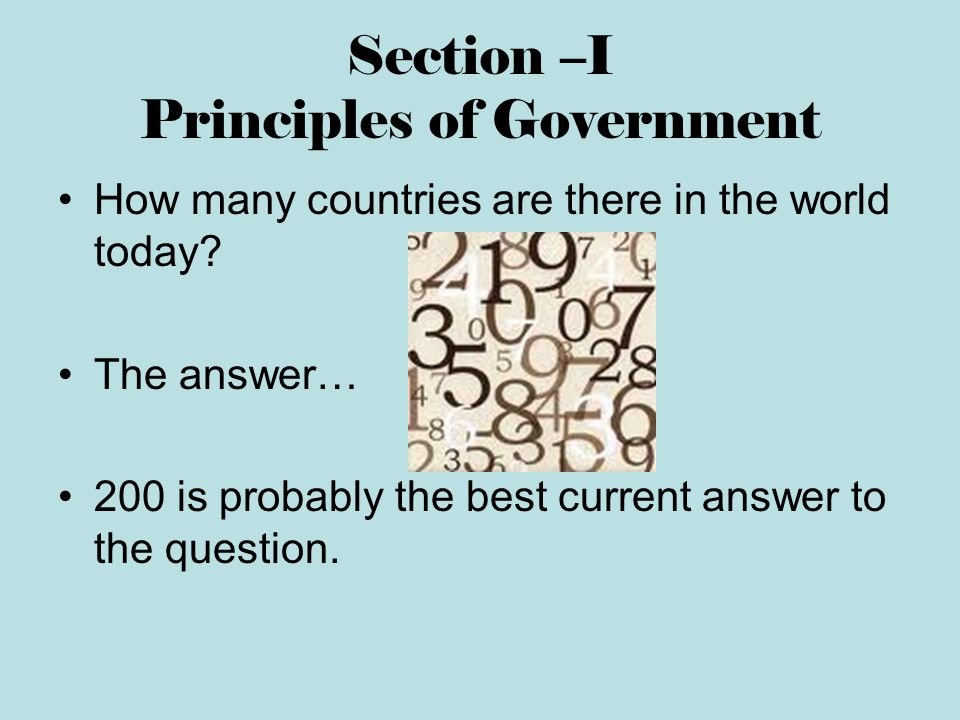 I need a lot of people to answer this: Best government in the world?