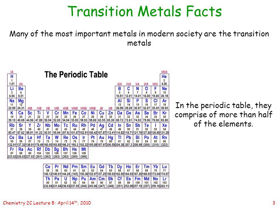 1chemistry 2c lecture 8 april 14 th 2010 lecture 8transition 3 3chemistry 2c lecture 8 april 14 th 2010 transition metals facts urtaz Choice Image