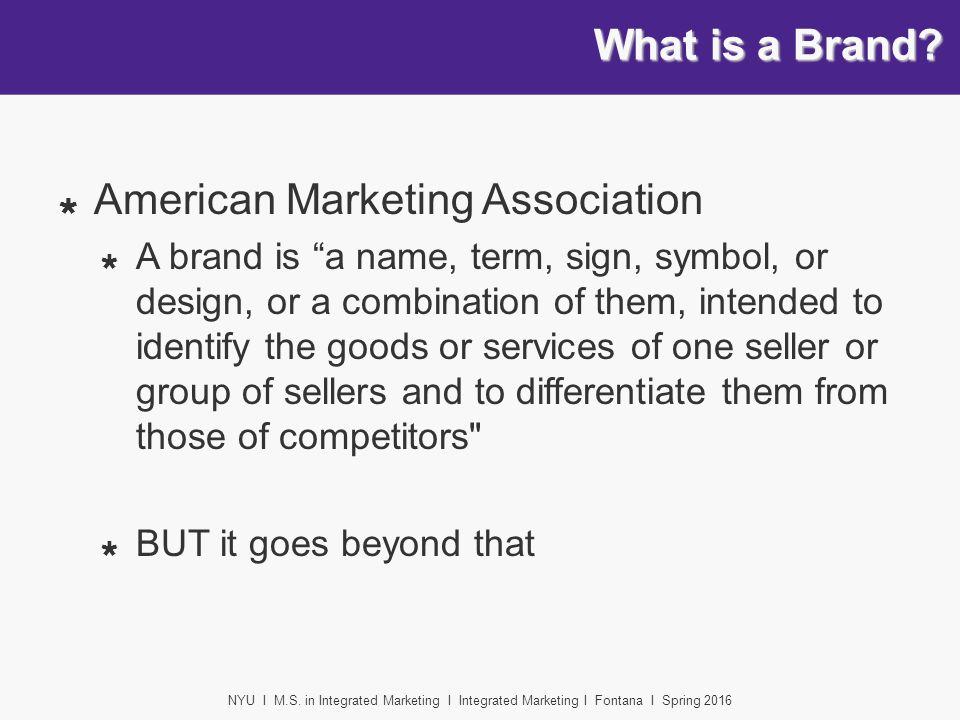 NYU I M.S. in Integrated Marketing I Integrated Marketing I ...
