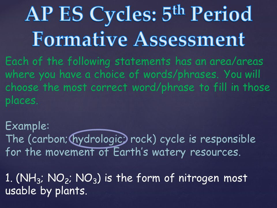 Each of the following statements has an area/areas where you have ...