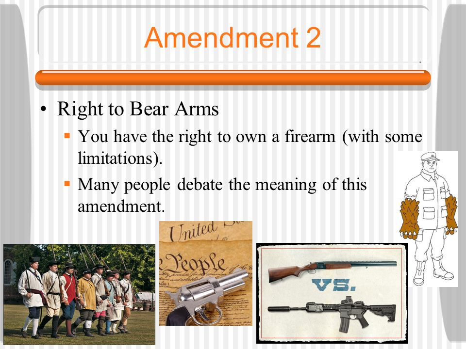 a debate on the peoples right to bear arms by the second amendment Liberals are using the las vegas atrocity to encourage federal gun control, but their real problem is with the second amendment.