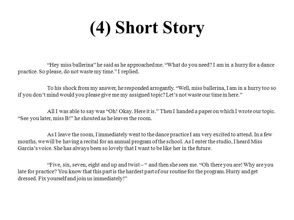 What is the difference between creative essay and short story? HURRY-10 POINTS!?
