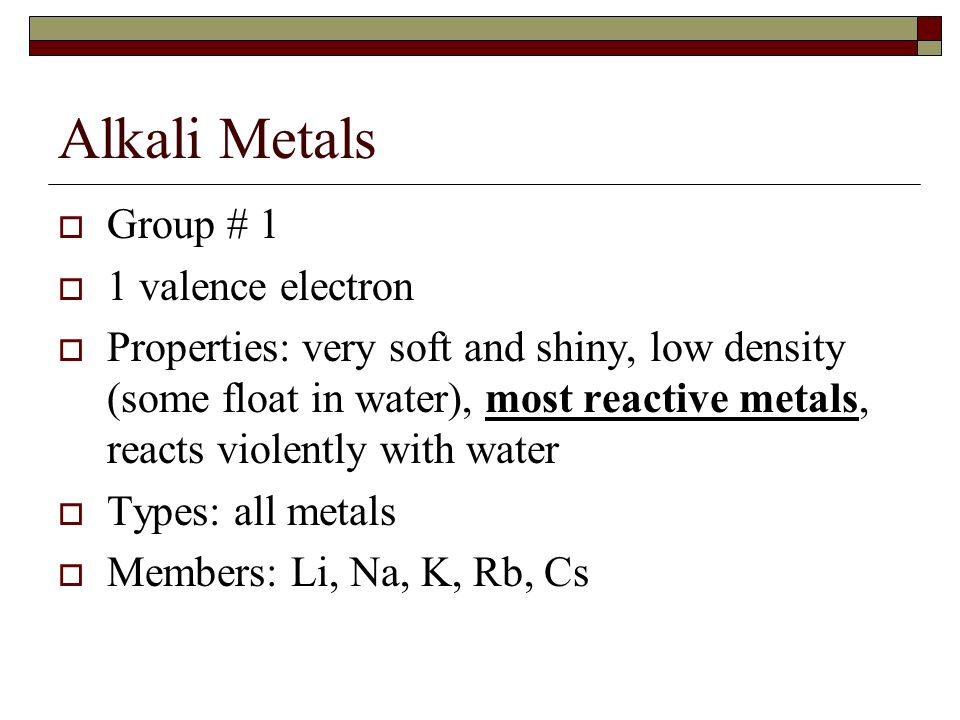 groups in the periodic table 2 alkali metals - Periodic Table Alkali Metals Reactivity