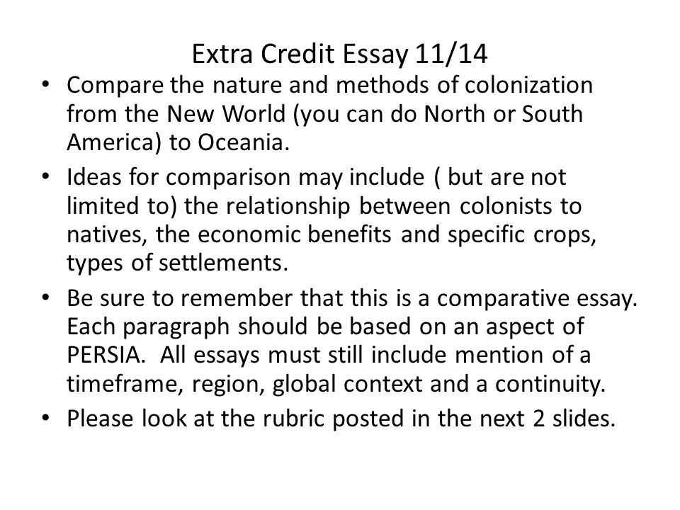 a credit to america essay