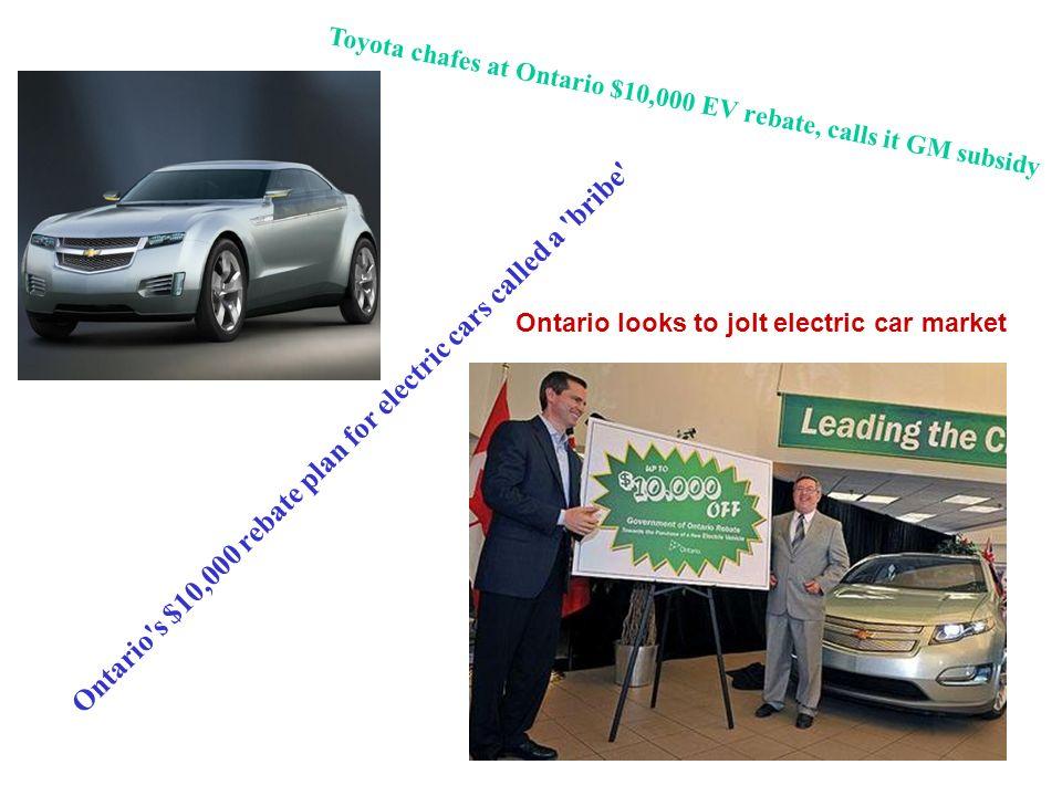Green Alternatives Ontario S Rebate Plan For Electric