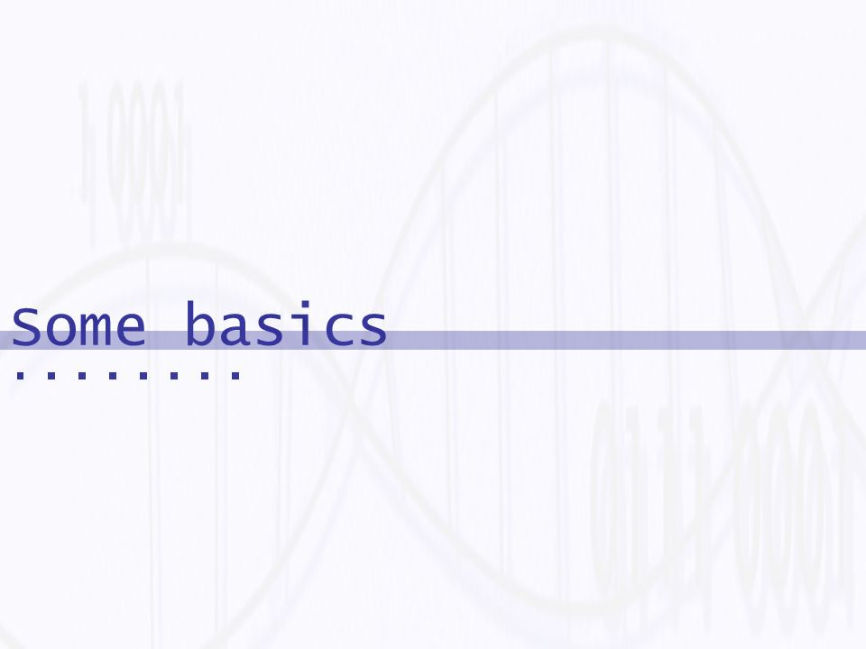 Some Simple Basics 1Introduction 2Theoretical Background Biochemistry Molecular Biology 3Theoretical Computer Science 4History Of The Field