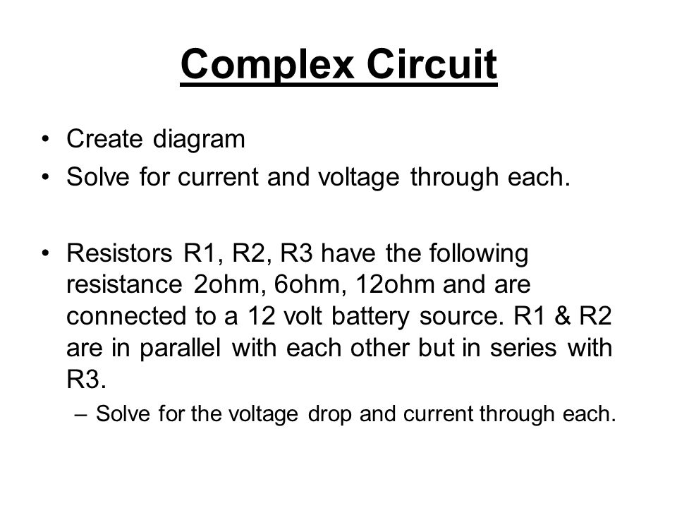 Physics 12 Circuits 6 – Basic Complex Circuits Mr. Jean. - ppt download
