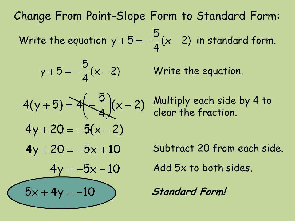 Writing Equations in Point-Slope Form Algebra 1 Glencoe McGraw ...
