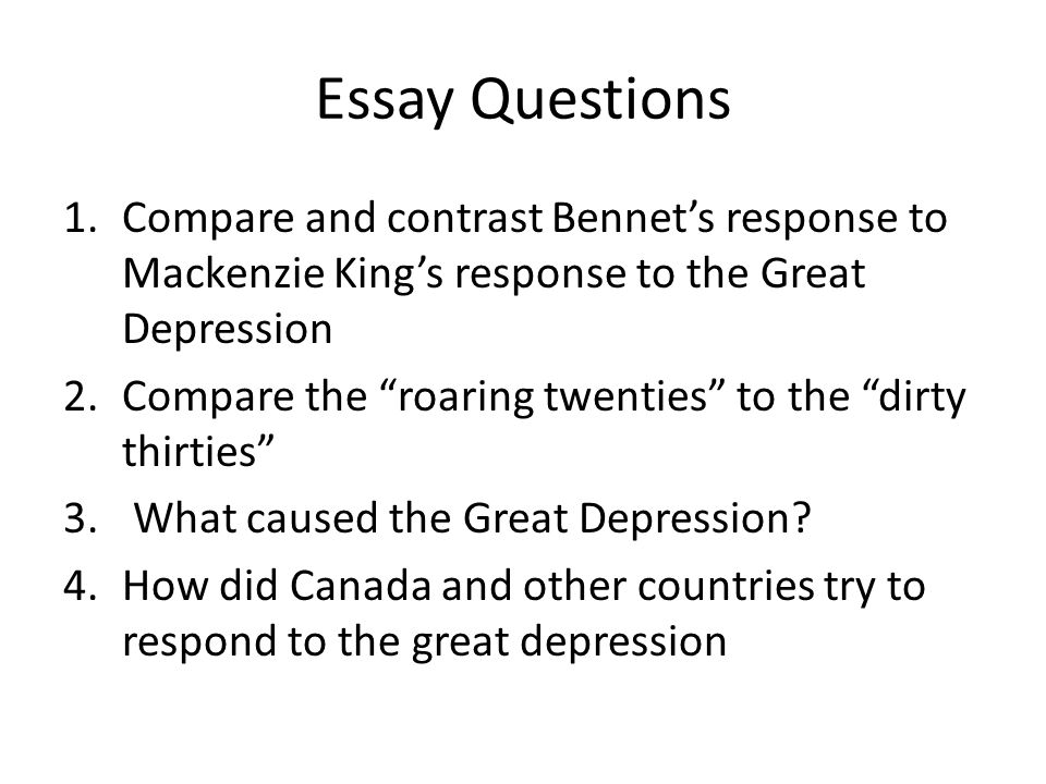 the great depression reasons consequences solutions ppt  23 essay questions