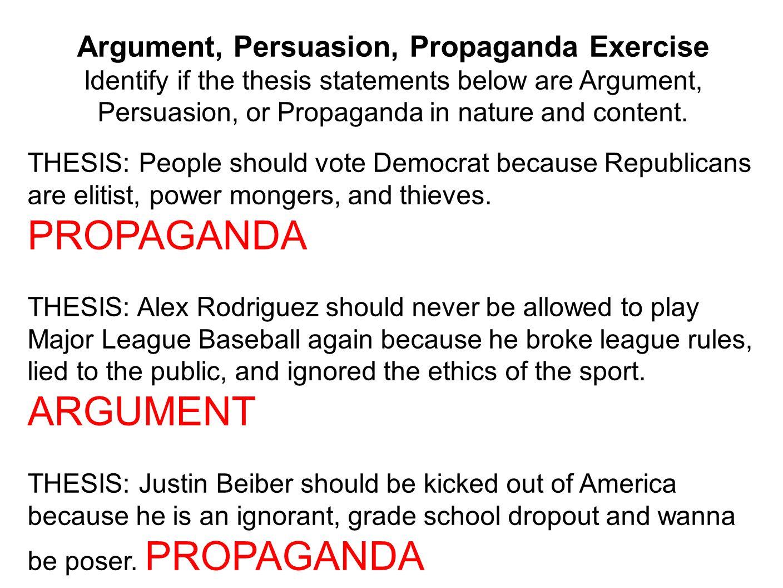Argument And Persuasion Essay