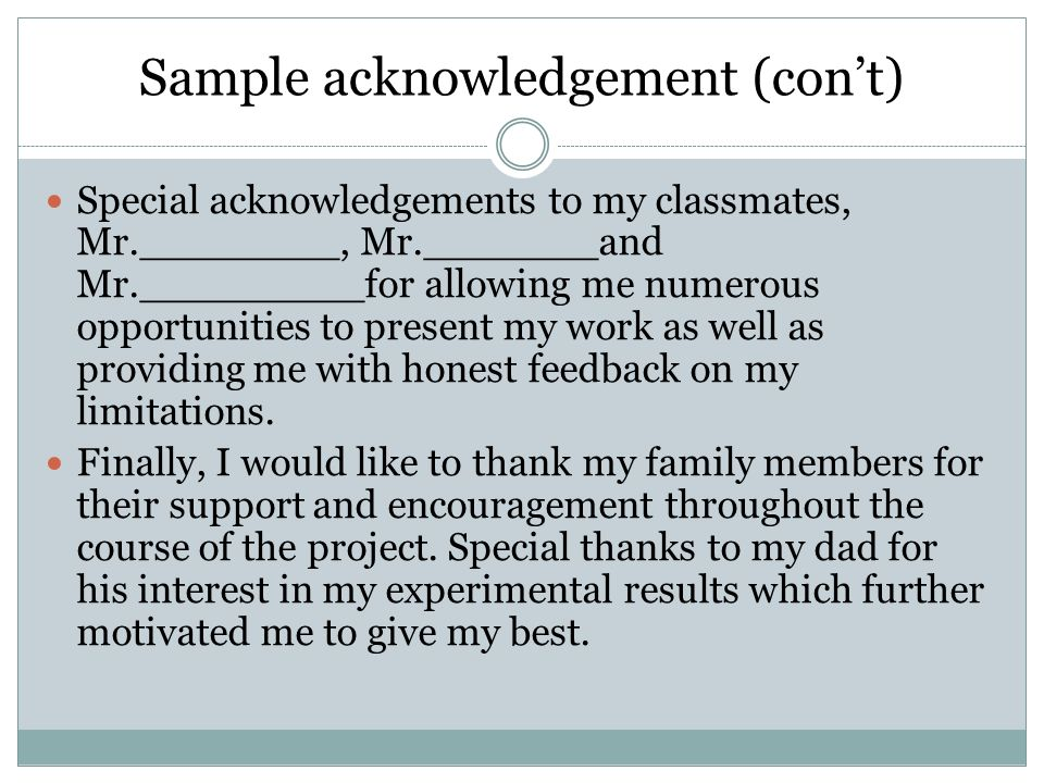 acknowledgement in a dissertation Examples and ideas for writing the acknowledgements section of your dissertation.