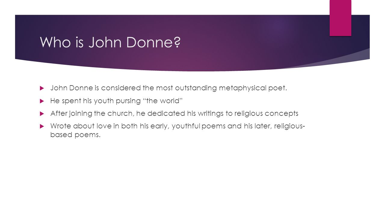 discuss john donnes use of conceits The use of conceit by john donne what exactly is conceit - from the latin term for concept - unconventional, complex, confusing and surprising metaphor.