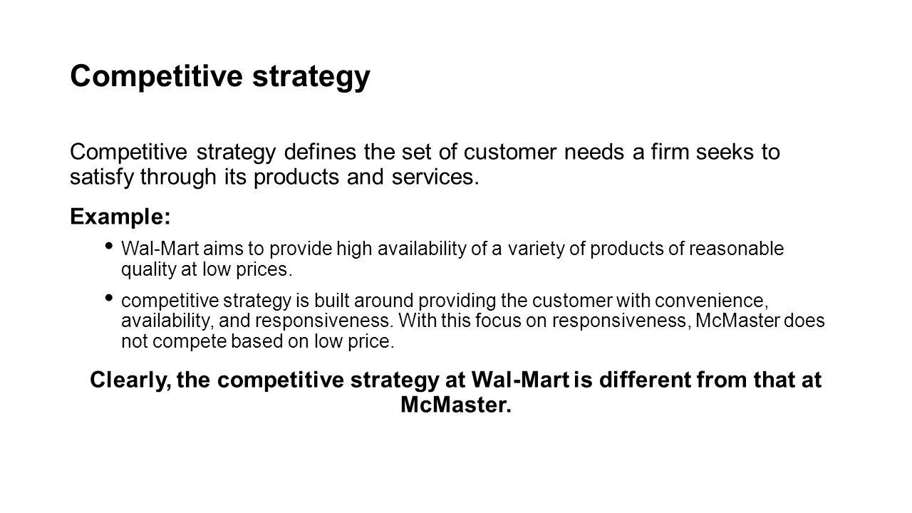 strategic fit supply chain management