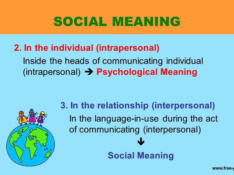 interpersonal vs intrapersonal