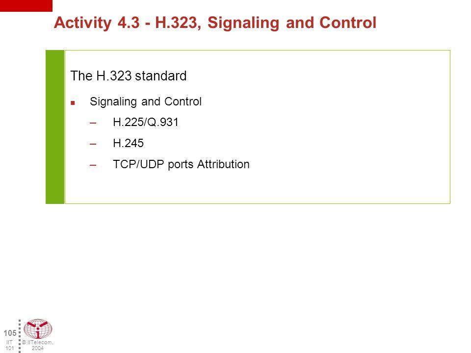 © IITelecom, 2004 104 IIT 101 Questions