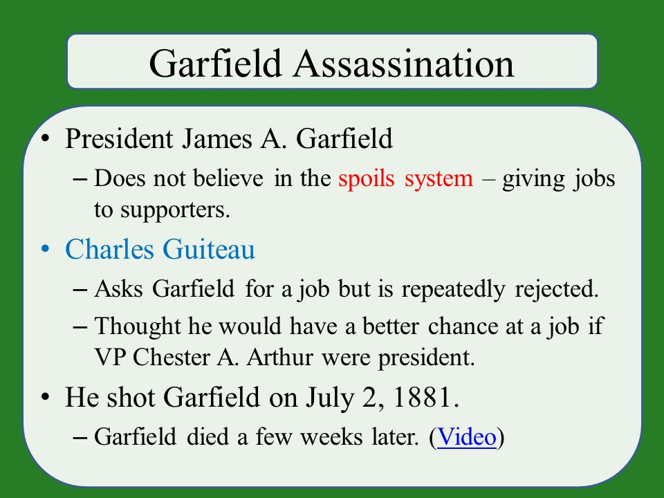 Garfield Assassination President James A.