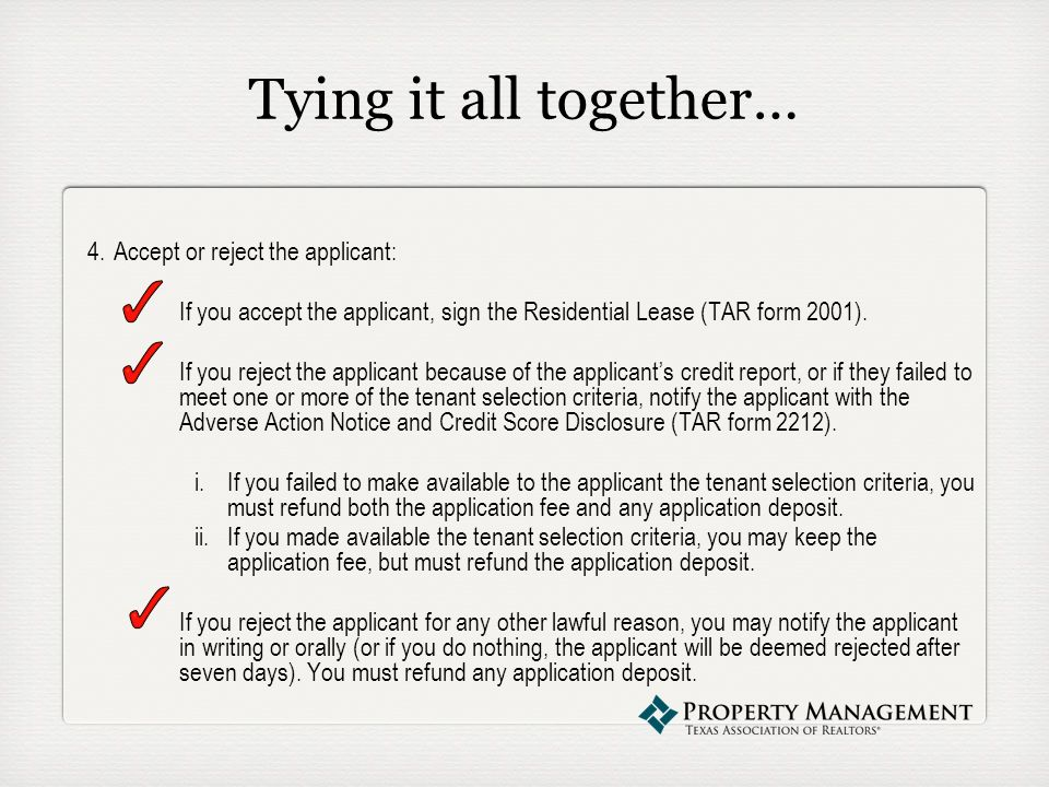 The tenant application process presented by abby lee senior 84 tying reheart Choice Image